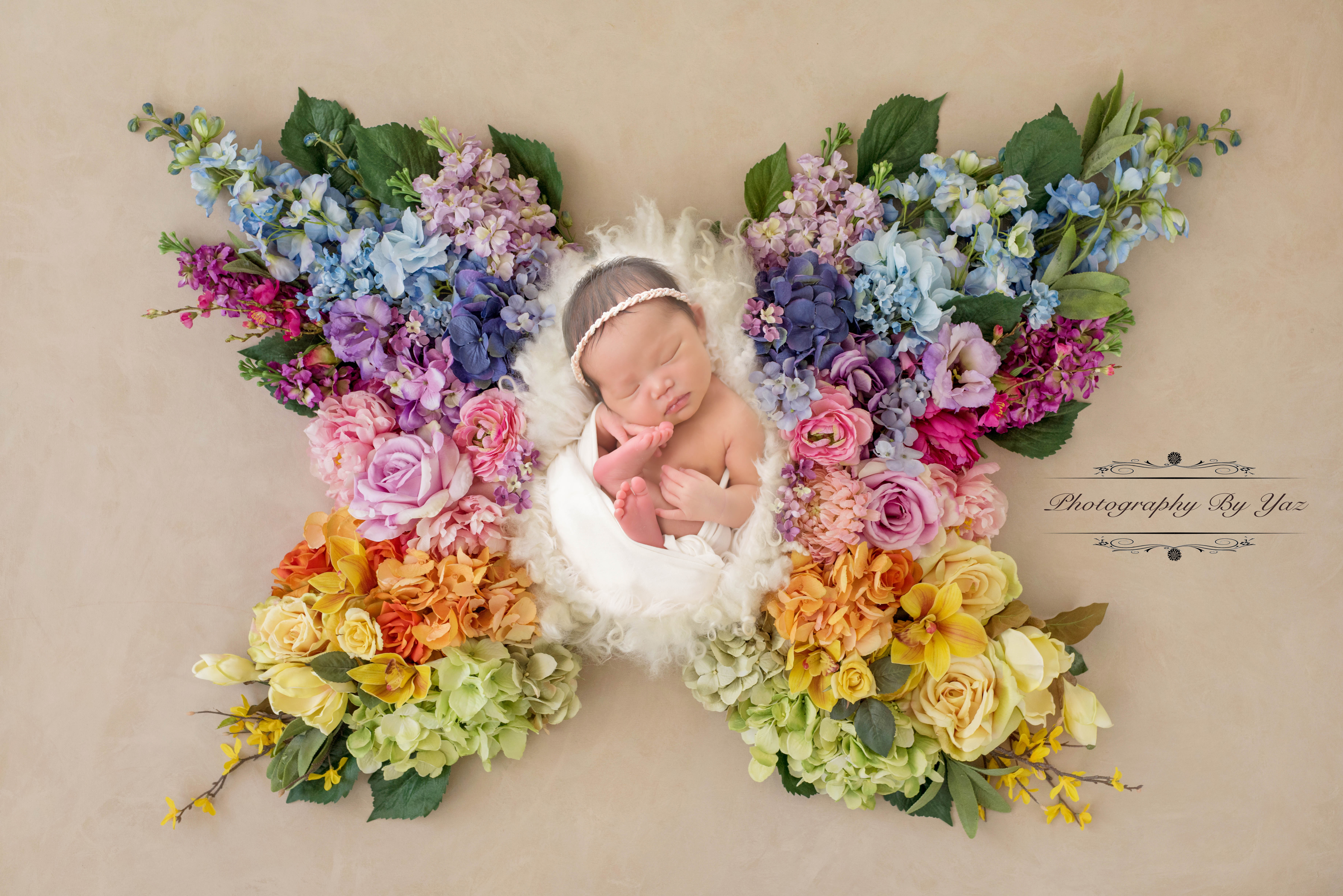 Rainbow baby newborn pictures