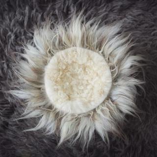 grey fur ring