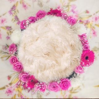 hot pink flower ring