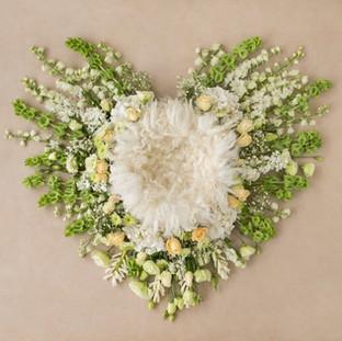 heart shape white