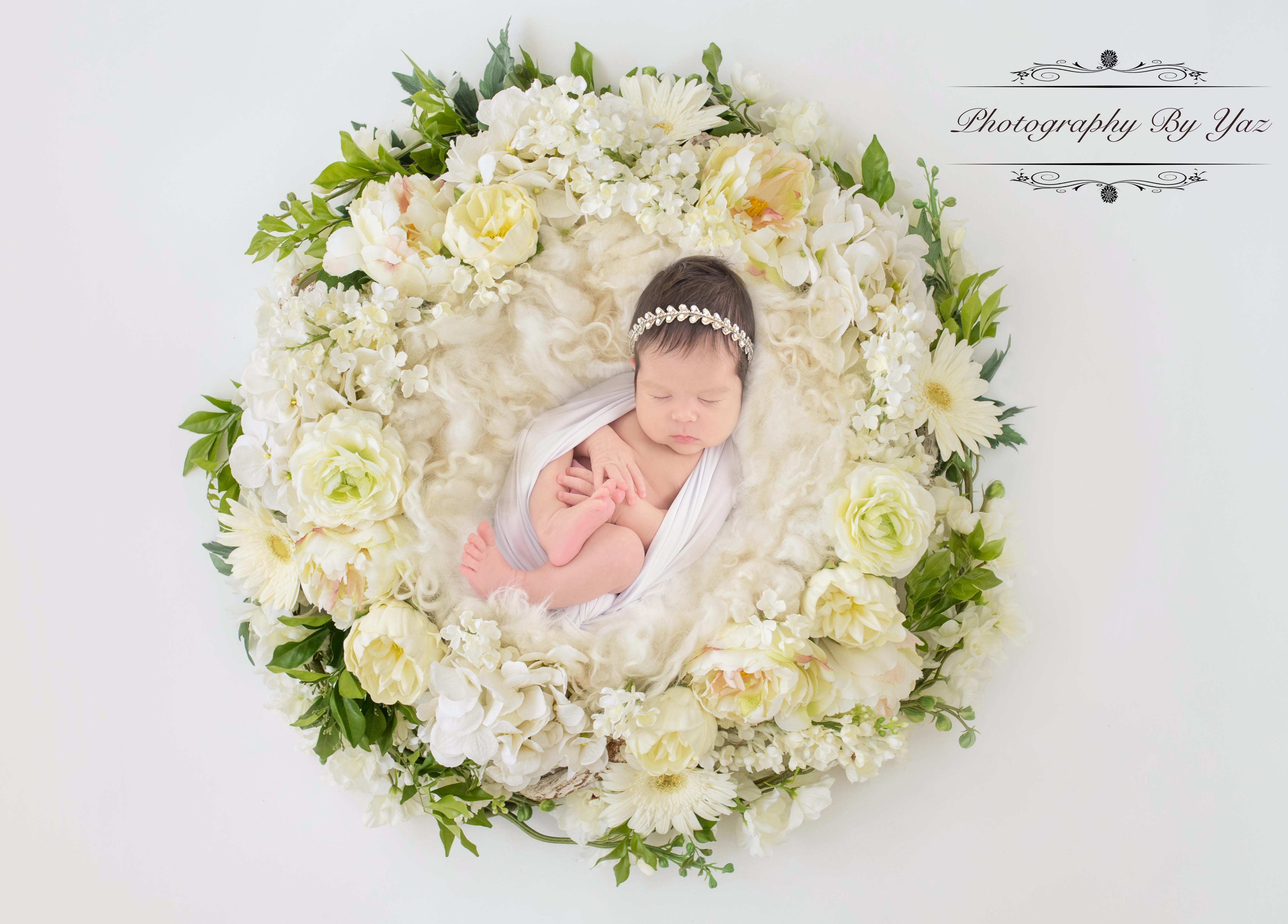 Flower ring newborn pictures