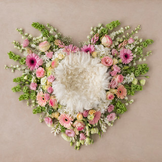 heart shape pink and white