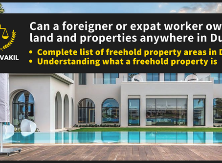 Can a foreigner own property in Dubai? List of all freehold property areas in Dubai