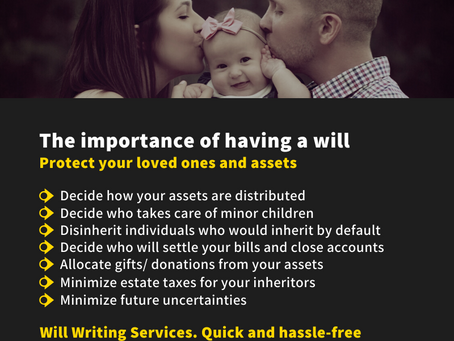 What happens if you don't have a will in Dubai? Best Will Writing Services in UAE