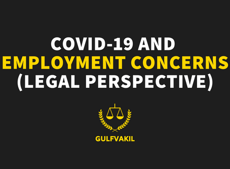 COVID-19 and Employment Concerns (Legal Perspective)