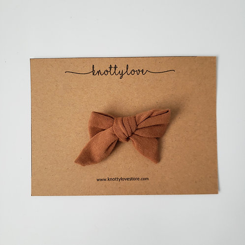 Toasty Brown School Girl Bow