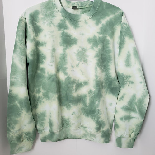 Small Yellow-Green Tie Dye Crewneck