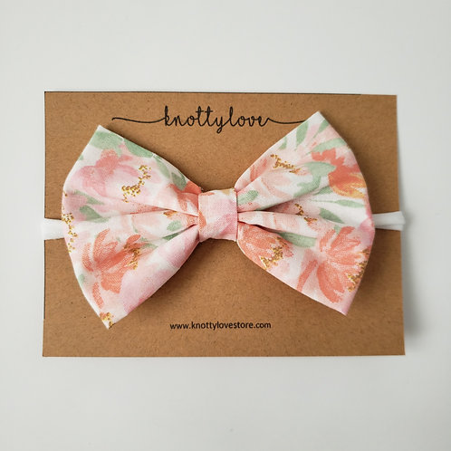 Summer Floral Classic Bow