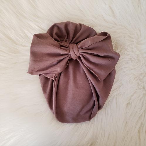Brown Big Bow Headwrap