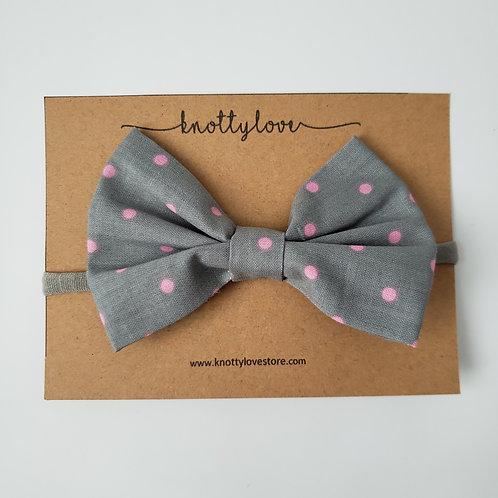 Polka Dot Pink Classic Bow