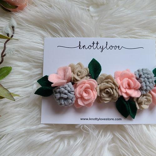 Roses Felt Flower Crown
