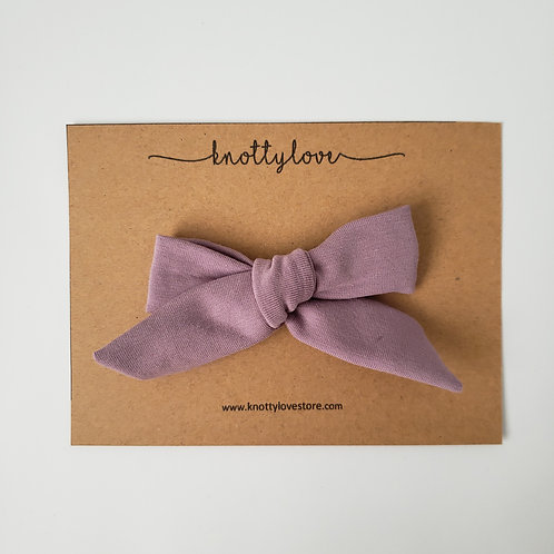 Mauve School Girl Bow