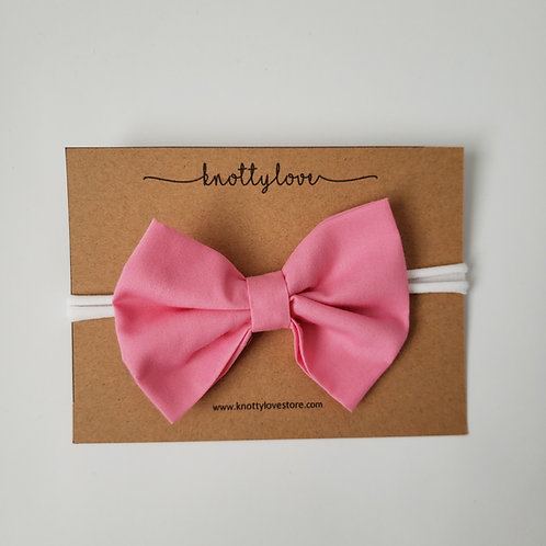 Bubblegum Pink Classic Bow