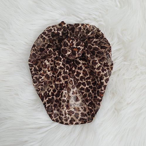 Leopard Lace Top Knot Headwrap
