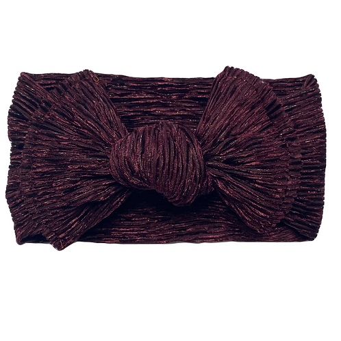 Wine Knotted Headwrap