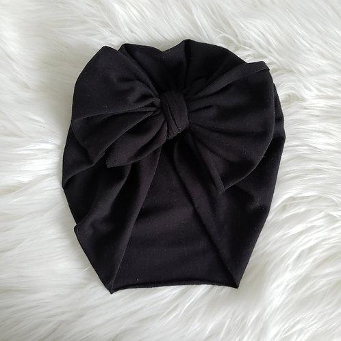 Black Big Bow Headwrap