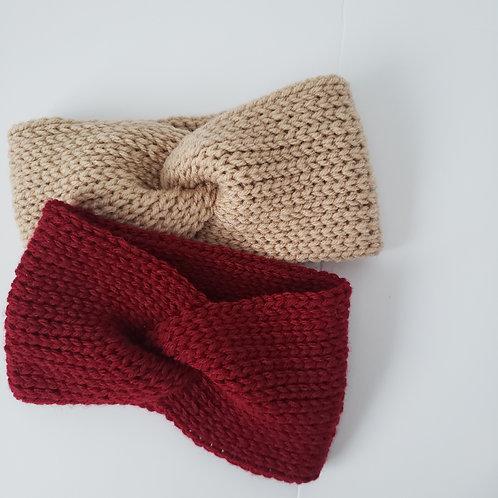 Twisted Knit Crochet Headband