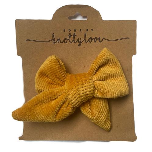 Yellow Pinwheel Bow