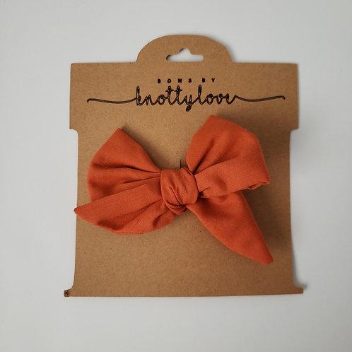 Autumn Orange Pinwheel Bow