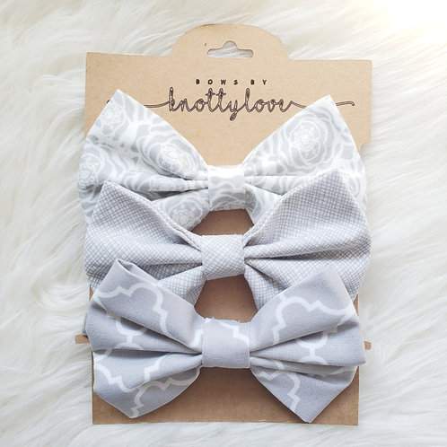 Grey Bow Set