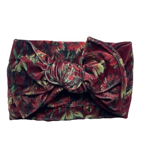 Vintage Floral Knotted Headband