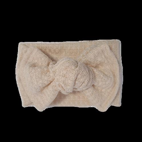 Cream Knotted Headband