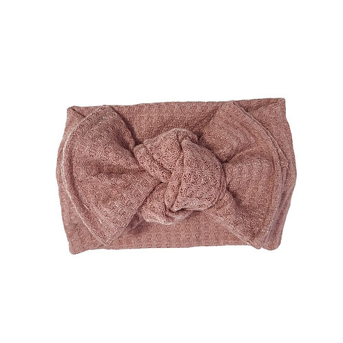 Dusty Rose Knotted Headband