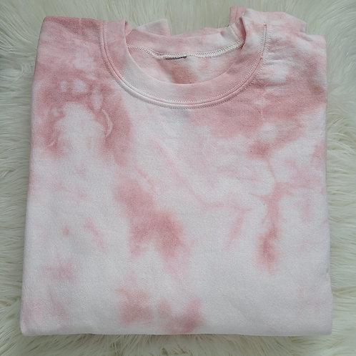 Blush Pink Tie Dye Crewneck