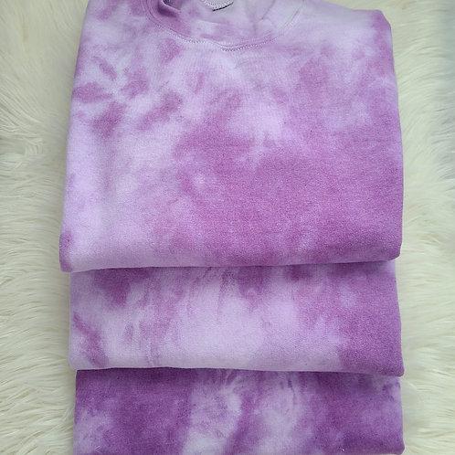Spring Purple Tie Dye Crewneck