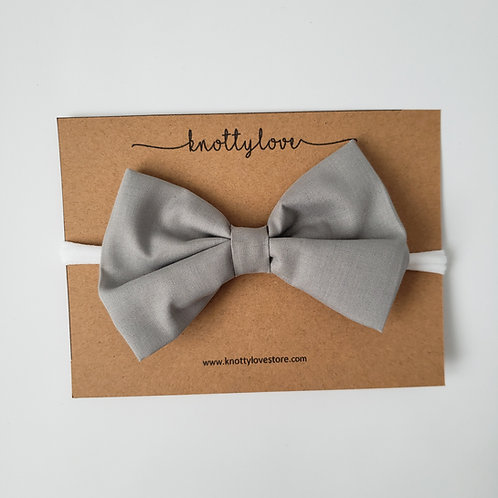 Gray Classic Bow
