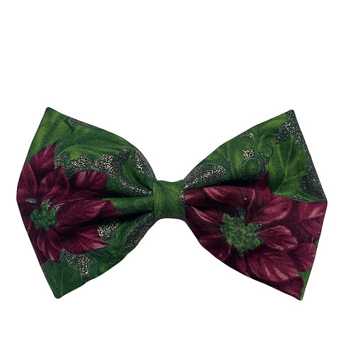 Christmas Floral Classic Bow