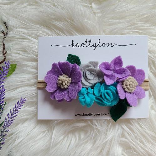 Purple Felt Flower Crown