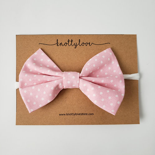 Spotted Pink Classic Bow