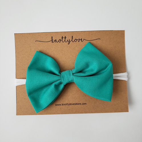 Teal Classic Bow