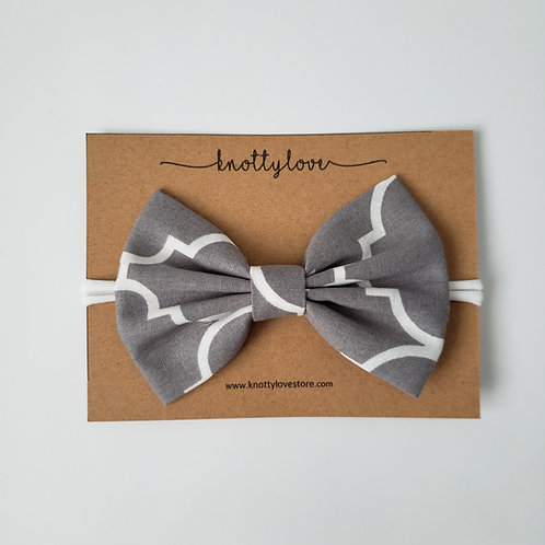 Dark Gray Classic Bow