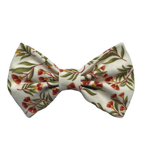 Winter Floral Classic Bow