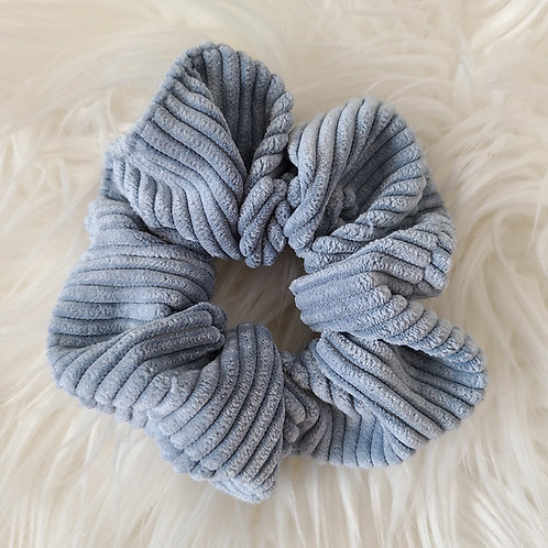 Light Blue Corduroy Scrunchie