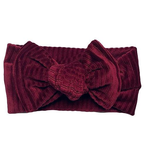 Velvet Red Knotted Headband