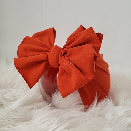 Orange Red Bow Headband