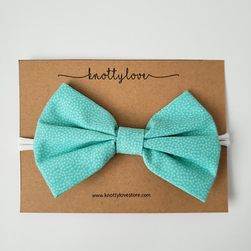 Torquoise Blue Classic Bow