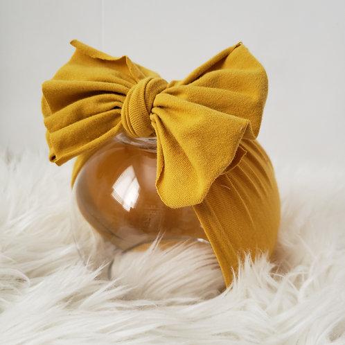 Mustard Yellow Bow Headband