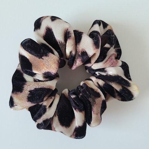 Velvet Cheetah Scrunchie
