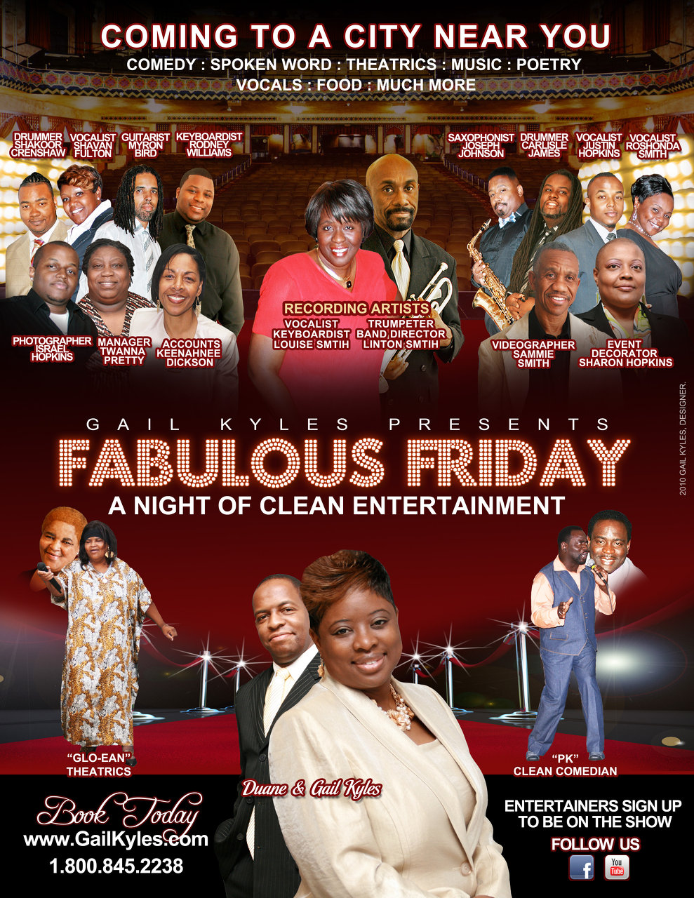 FABULOUS FRIDAY Booking Flyer