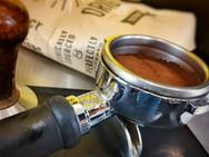 Freshly ground coffee roasted locally.