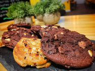 Belgium chocolate cookies baked fresh each morning in our Kitchen.