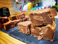 The world famous 7a Brownies - sold here at the Crux Cafe.