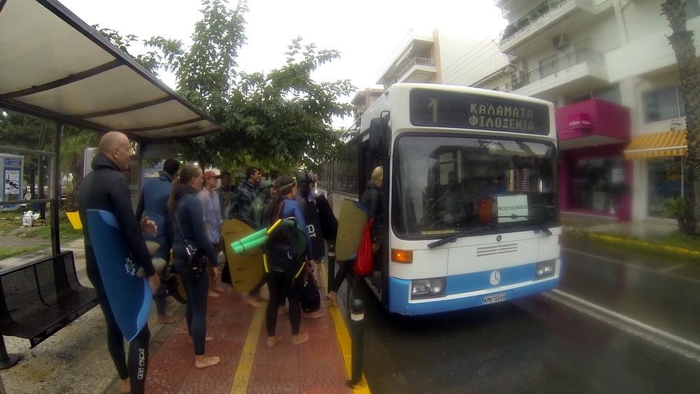 Фридайверы и автобус