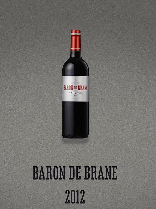 BARON DE BRANE - MARGAUX - 2012