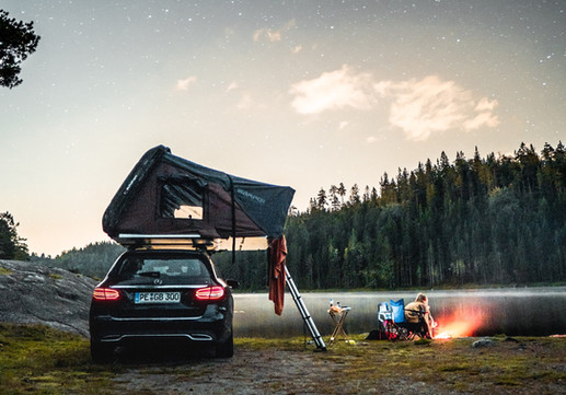 Camping unter Sternen