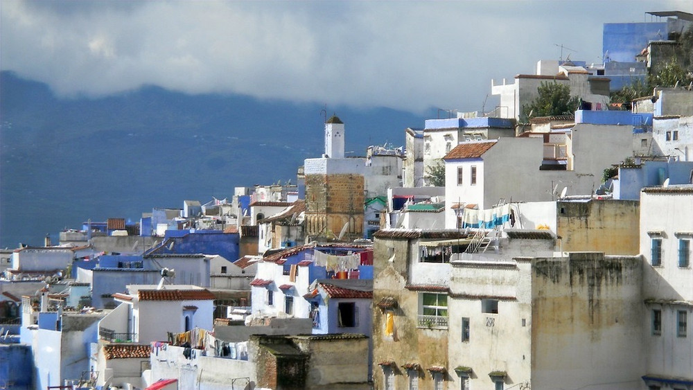 Chefchaouen rooftops. Photo credit Bronwyn Silver